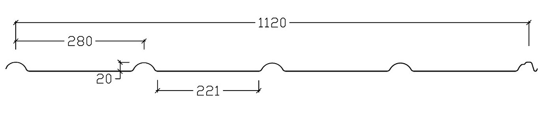 Pannplåt profilgeometri
