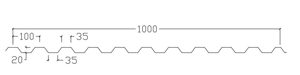 Tp20 35x35 profilgeometri
