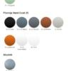 Väggbeslag modern och trend kulörkarta