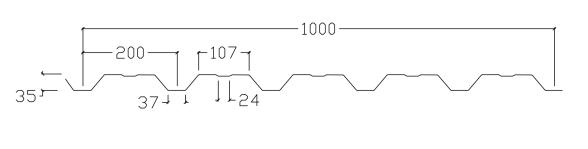 VP35 profilgeometri med rilla