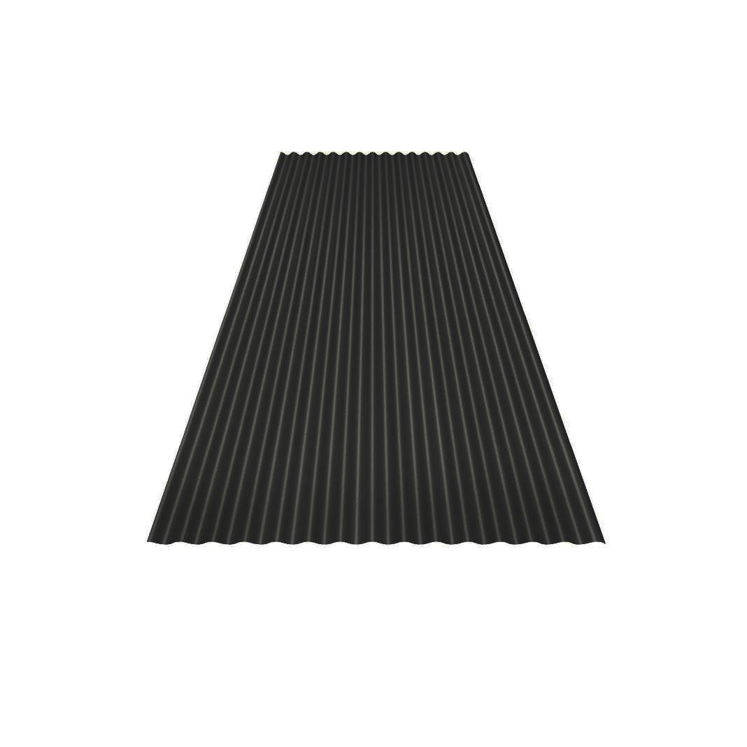 Sinus 18 Tak och väggplåt produktbild Svart 0.6 mm