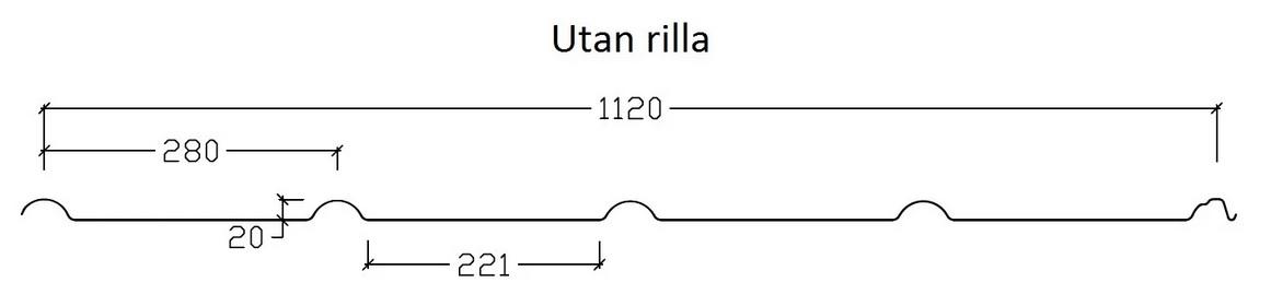 Pannplåt Design profilgeometri utan rilla